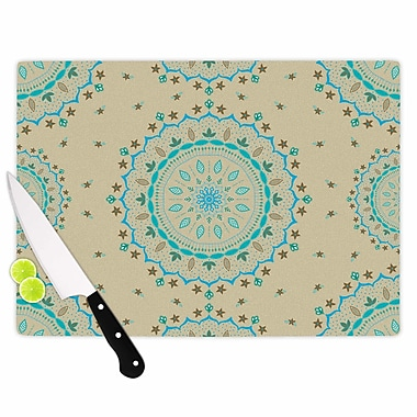 East Urban Home Cristina Bianco Design Glass 'Mandala Painting' Cutting Board