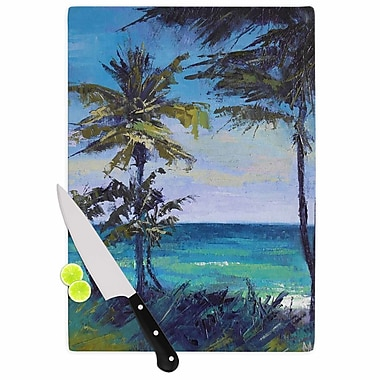 East Urban Home Carol Schiff Glass 'Room w/ a View' Cutting Board; 0.25'' H x 11.5'' W x 8.25'' D