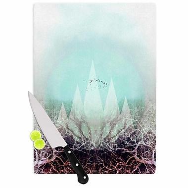 East Urban Home Pia Schneider Glass 'Trees Under Magic Mountains VI' Cutting Board
