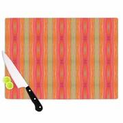 East Urban Home Nika Martinez Glass 'Summer Tie Dye' Cutting Board; 0.25'' H x 11.5'' W x 8.25'' D