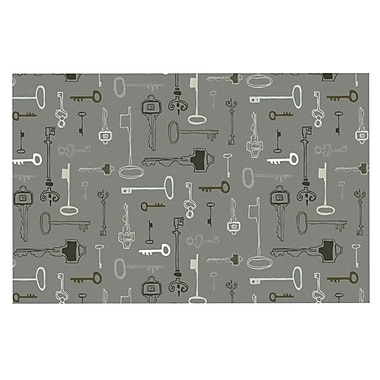 East Urban Home Laurie Baars 'Keys' Doormat; Gray