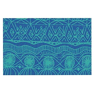 East Urban Home Catherine Holcombe 'Blanket Bingo' Decorative Door Mat; Confusion