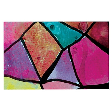 East Urban Home Theresa Giolzetti 'Stain Glass' Doormat; Pink/Purple