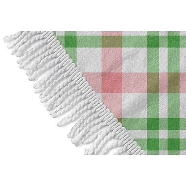 Darby Home Co Plaid Round Red/Green Beach Towel