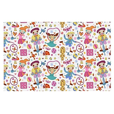 East Urban Home Jane Smith 'Vintage Playground IIII' Rainbow Doormat