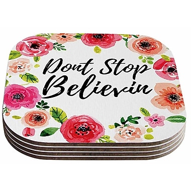 East Urban Home Don't Stop Believin' Coaster (Set of 4)