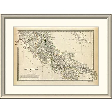 East Urban Home 'Ancient Italy Ii, 1830' Framed Print; 29'' H x 38'' W x 1.5'' D
