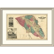 East Urban Home 'Map of Sonoma County California, 1877' Framed Print; 27'' H x 38'' W x 1.5'' D