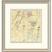 East Urban Home 'Army Map of the Seat of War' Framed Print; 24'' H x 23'' W x 1.5'' D