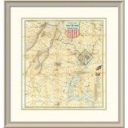 East Urban Home 'Army Map of the Seat of War' Framed Print; 30'' H x 28'' W x 1.5'' D