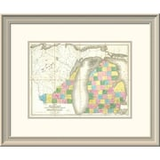 East Urban Home 'Map of Michigan & Part of Wisconsin Territory, 1839' Framed Print