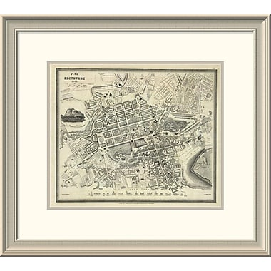 East Urban Home 'Edinburgh, Scotland, 1844' Framed Print; 21'' H x 24'' W x 1.5'' D