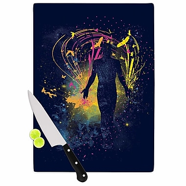 East Urban Home Frederic Levy Hadida Glass 'the Birds Master' Cutting Board