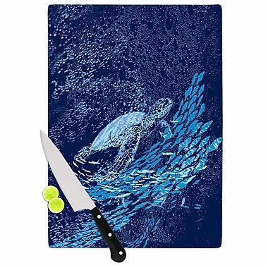 East Urban Home Frederic Levy Hadida Glass 'the Turtle Way' Cutting Board