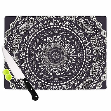 East Urban Home Famenxt Glass 'Swadesi Boho Mandala Illustration' Cutting Board