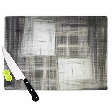 East Urban Home Ebi Emporium Glass 'Tartan Crosshatch Painting' Cutting Board