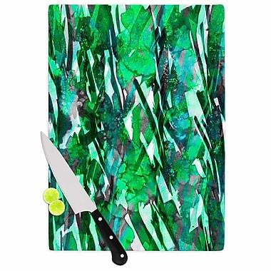 East Urban Home Ebi Emporium Glass 'Frosty Bouquet 7 Abstract' Cutting Board