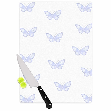 East Urban Home Jennifer Rizzo Glass 'Many Lavender Butterflies' Cutting Board