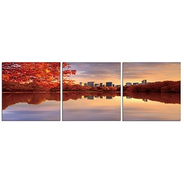 Latitude Run 'Central Park River' Photographic Print Multi-Piece Image on Canvas