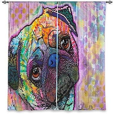 Latitude Run Lanesboro Dean Russo's Window Pug Love Dog Room Darkening Curtain Panels (Set of 2)