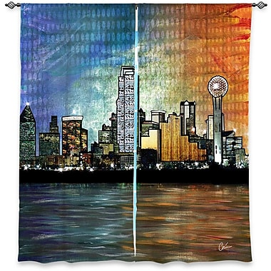 Latitude Run Donora Corina Bakke's Window Dallas Skyline Room Darkening Curtain Panels (Set of 2)