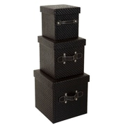 Red Barrel Studio 3 Piece Cubic Decorative Box Set