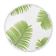 Bayou Breeze Round Green/White Beach Towel
