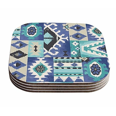 East Urban Home Jacqueline Milton 'Tribal Patch' Painting Coaster (Set of 4)