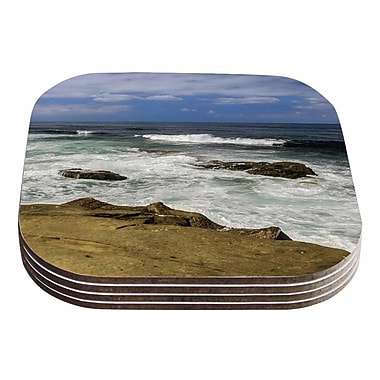 East Urban Home Nick Nareshni 'Exposed Above Water' Photography Coaster (Set of 4)