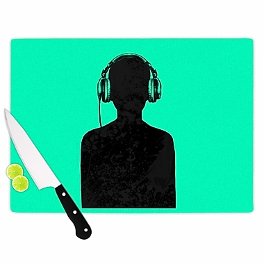 East Urban Home Glass 'Music' Cutting Board; 0.25'' H x 11.5'' W x 8.25'' D
