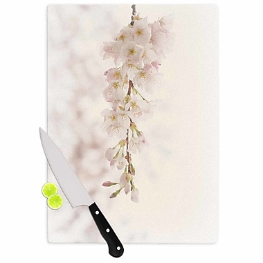 East Urban Home Robin Dickinson Glass 'It's That Time Floral Photography' Cutting Board