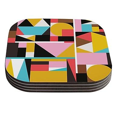 East Urban Home Fimbis 'Kaku To' Abstract Geometric Coaster (Set of 4)