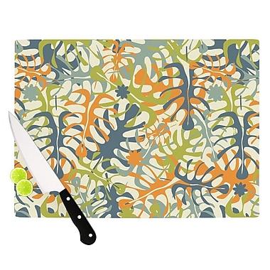 East Urban Home Julia Grifol Glass 'Summer Tropical Leaves' Cutting Board