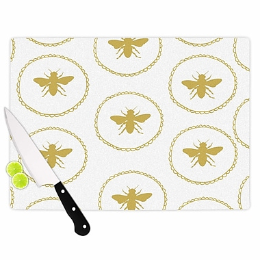 East Urban Home Jennifer Rizzo Glass 'Busy As a Bee and Maize' Cutting Board