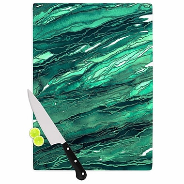 East Urban Home Ebi Emporium Glass 'Agate Magic Jade Painting' Cutting Board