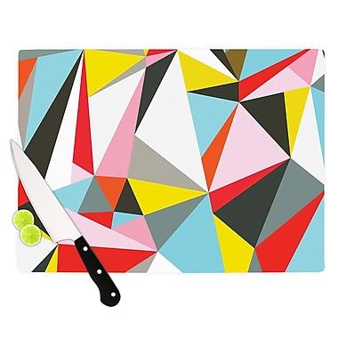 East Urban Home Fimbis Glass 'Mosaik Geometric' Cutting Board; 0.25'' H x 15.75'' W x 11.5'' D
