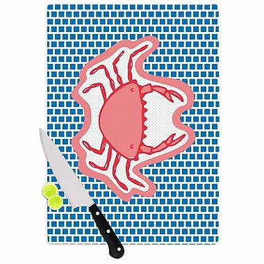 East Urban Home MaJoBV Glass 'Cangrejo Crab' Cutting Board; 0.25'' H x 15.75'' W x 11.5'' D