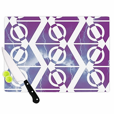 East Urban Home Matt Eklund Glass 'Mana Storm' Cutting Board; 0.25'' H x 11.5'' W x 8.25'' D