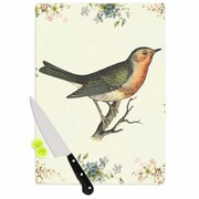 East Urban Home NL Designs Glass 'Vintage Bird 3' Cutting Board; 0.25'' H x 11.5'' W x 8.25'' D