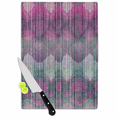 East Urban Home Michelle Drew Glass 'Vintage Ikat' Cutting Board; 0.25'' H x 11.5'' W x 8.25'' D