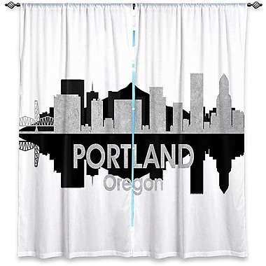 East Urban Home City IV Portland Oregon Angelina Vick's Room Darkening Curtain Panels (Set of 2)