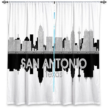 East Urban Home City IV San Antonio Texas Angelina Vick's Room Darkening Curtain Panels (Set of 2)