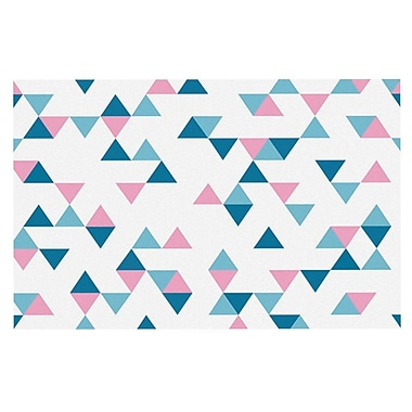 East Urban Home Project M 'Triangles' Doormat; Pink/Blush/Blue