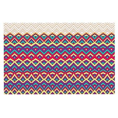 East Urban Home Pom Graphic Design 'Horizons' Doormat; Orange