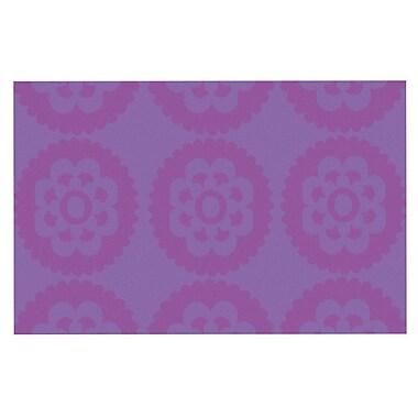 East Urban Home Nicole Ketchum 'Moroccan' Doormat; Purple