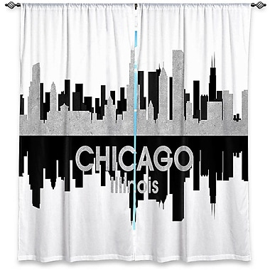 East Urban Home City IV Chicago Illinois Angelina Vick's Room Darkening Curtain Panels (Set of 2)