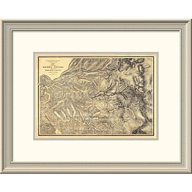 East Urban Home 'Sierra Nevada Adjacent to the Yosemite Valley, 1869' Framed Print