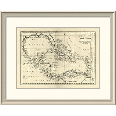 East Urban Home 'Chart of the West Indies, 1795' Framed Print; 24'' H x 30'' W x 1.5'' D