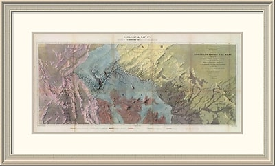 East Urban Home 'Geological Map, Rio Colorado of the West, 1858' Framed Print