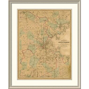 East Urban Home 'Map of Boston, 1860' Framed Print; 44'' H x 36'' W x 1.5'' D